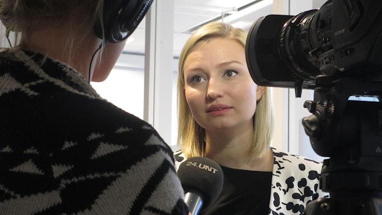 Ebba Busch (KD). Foto: Martin Hult/SR.