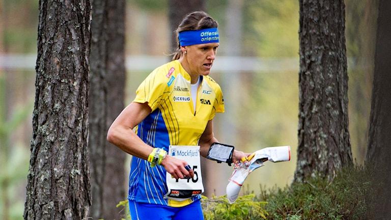 Orienteraren Annika Billstam. Foto: Jens L'Estrade/TT