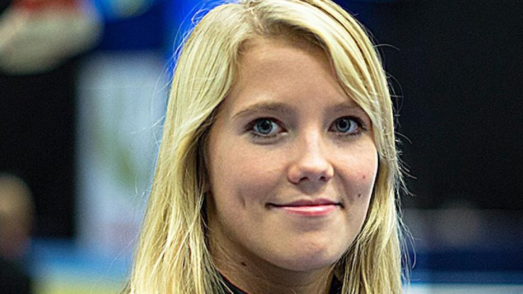 Lina Sjöberg, gymnast. Foto: Per Lindström