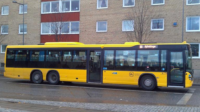 UL-buss i Uppsala på väg till Björklinge. Foto: August Bergkvist/Sveriges Radio