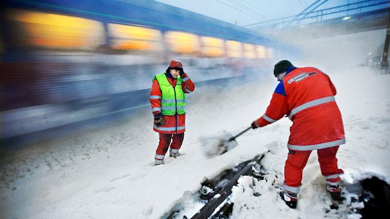 Trafikverket röjer snö i Uppland. Foto: Tomas Oneborg/SvD/TT