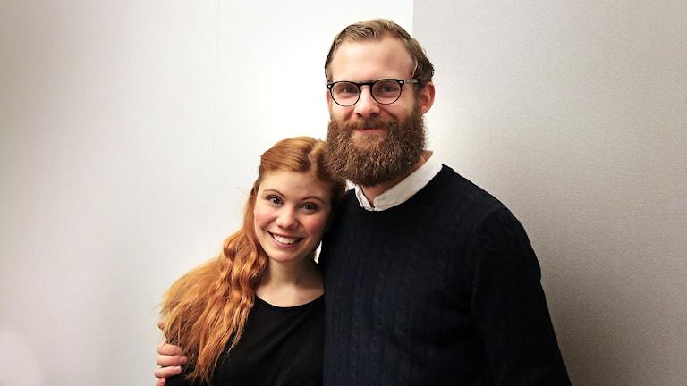 Maria Hartman och Per Wickström  från Teater C Foto:Thomas Artäng/Sveriges Radio