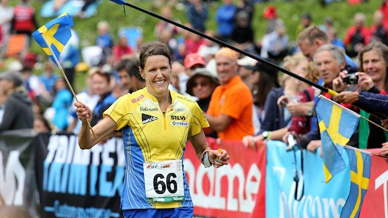Annika Billstam vinner VM-guld på medeldistans. Foto: Sören Andersson/TT