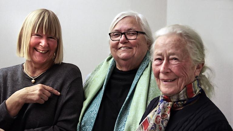 Marita (71), Margareta (74) & Thorborg (85) Foto:Thomas Artäng/Sveriges Radio