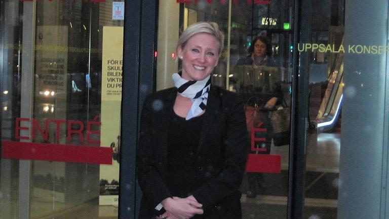 Linda Bovin, t f vd för Uppsala konsert & kongress. Foto: Mårten Nilsson/SR.