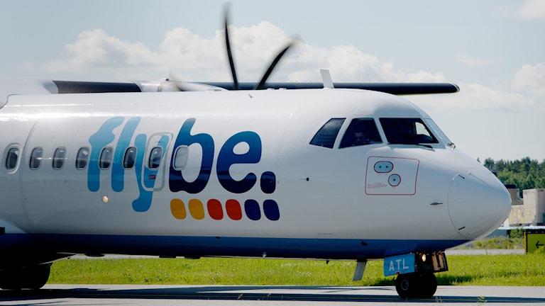 Ett av Flybe's flygplan (arkivbild). Foto: Johan Nilsson/TT
