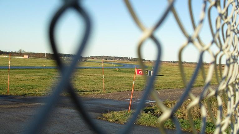 Militärflygplatsen Ärna strax norr om Uppsala.