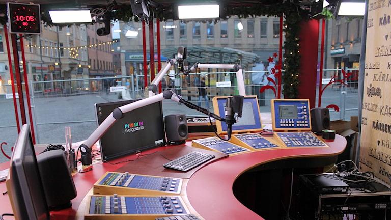 Musikhjälpens studio. Foto: Erik Thyselius/Sveriges Radio