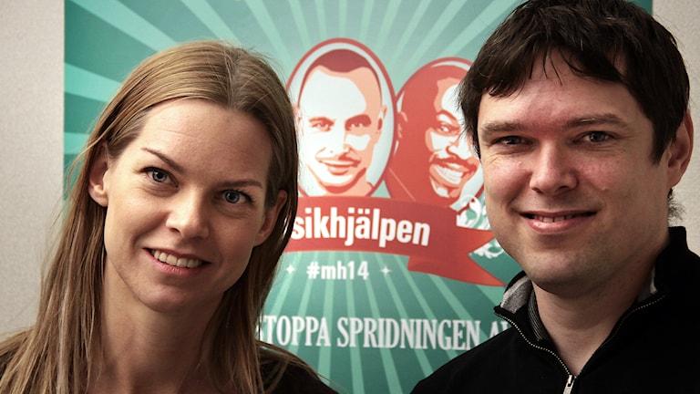 Miranda de Verdier & dirigenten Daniel Ovaska Foto:Thomas Artäng/Sveriges Radio