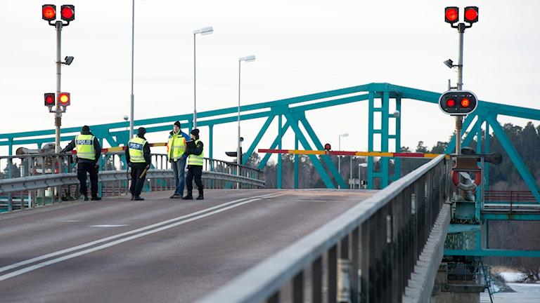 Hjulstabron vid dödsolyckan och broöppningen i mars 2013. Foto: Fredrik Sandberg/TT