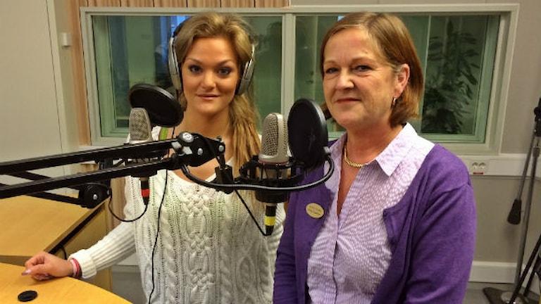 Lisa Anckarman och Emelie Tingström. Foto: Henrik Skarstedt/Sveriges Radio