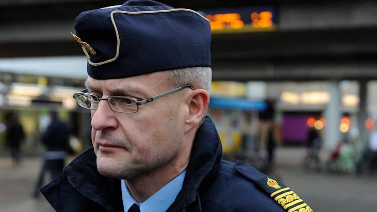 Mats Löfving, chef för polisens nationella operativa avdelning. Foto: Erik Mårtensson/TT