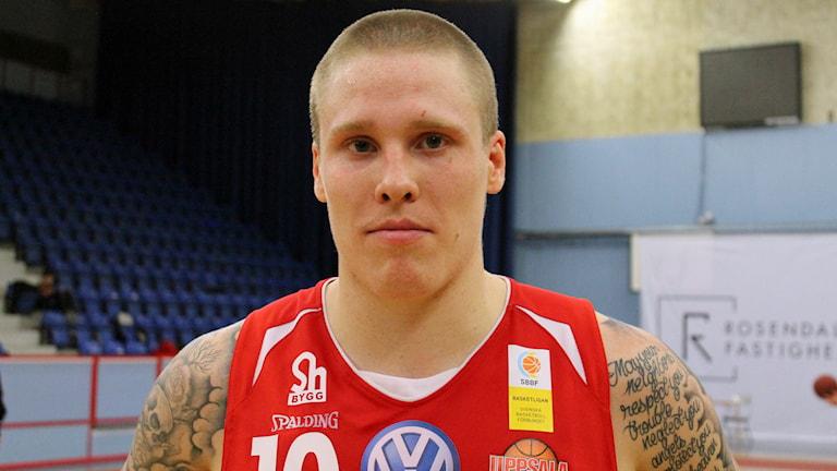 Uppsala baskets Axel Nordström. Foto: Karima Edell/Sveriges Radio