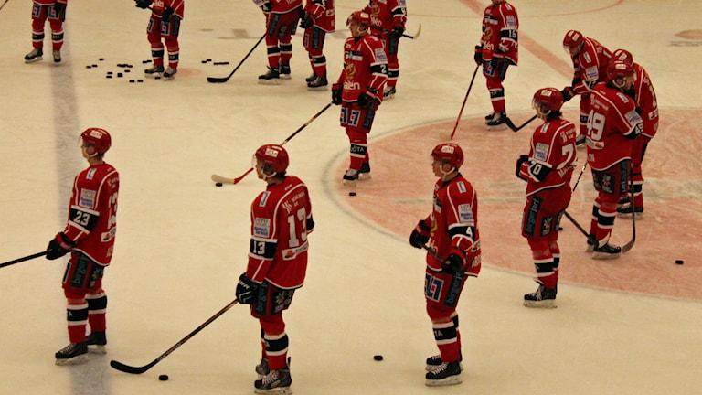 Almtunas hockeyherrar. Foto: Per-Henrik Johansson/Sveriges Radio