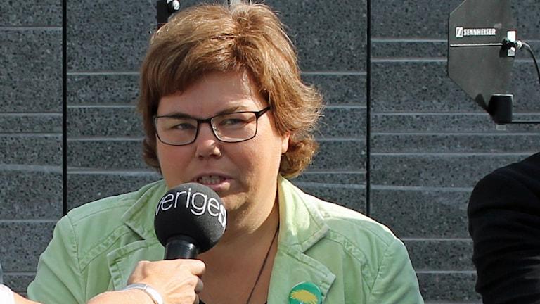Maria Gardfjell (MP). Foto: Erik Thyselius/Sveriges Radio