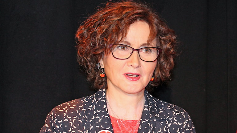 Ilona Szatmari Waldau, Vänsterpartiet. Foto: Erik Thyselius/Sveriges Raido