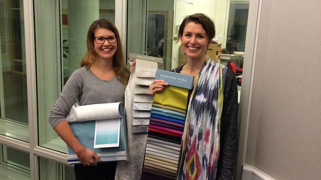 Gardinexperterna Johanna Bric Post och Emilia Rendel. Foto: Mona Wahlund
