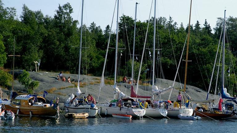 Segelbåtshamnen på Rödlöga (arkivbild). Foto: Hasse Holmberg/TT