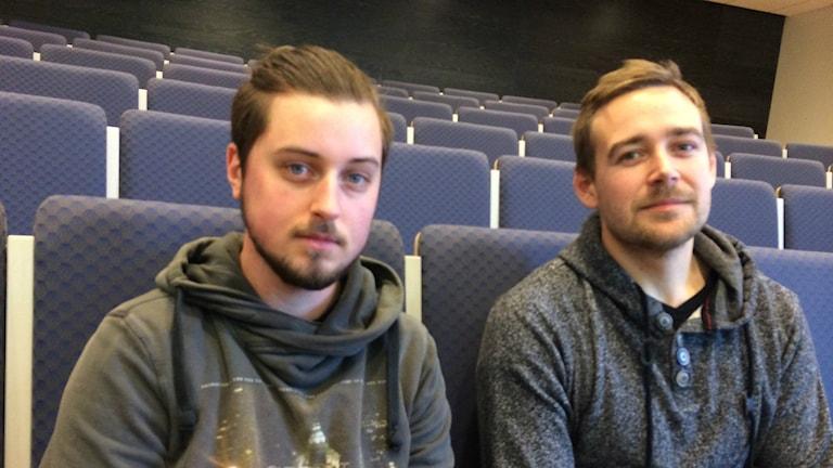 Lucas Almarsson och Emil Nordberg. Foto: Stefan Hesserud Persson / SR