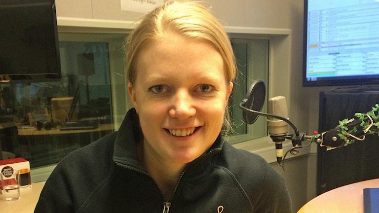 Konditorn Frida Leijon. Foto: Bosse Pettersson/Sveriges Radio