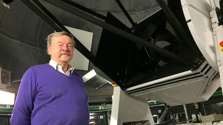 Claes-Ingvar Lagerkvist, professor i astronomi vid Uppsala universitet. Foto: Tova Kurkiala Medbo / SR