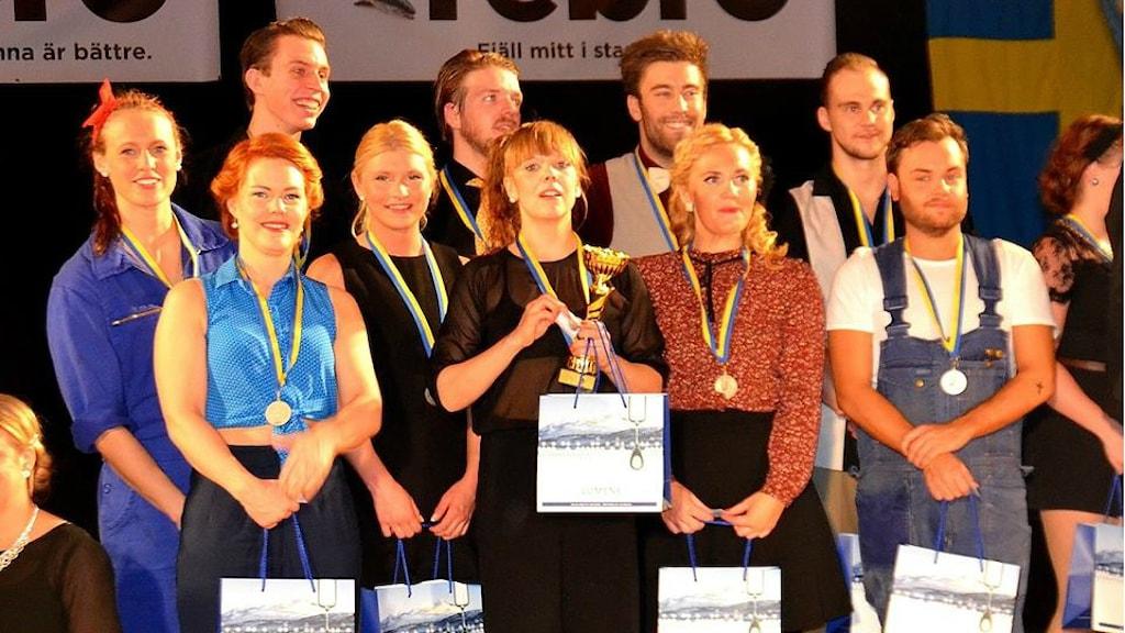 Det blev en andraplats för Uppsala Bugg & Swing Society på SM i Örebro