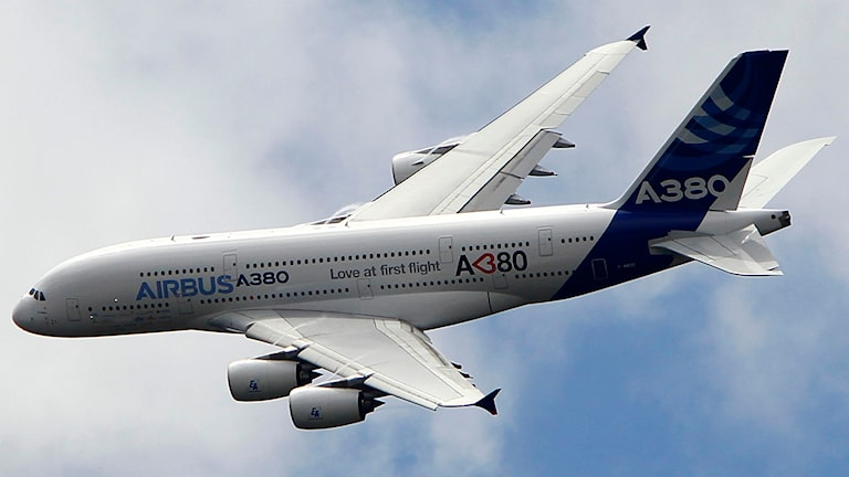 Airbus A380 (arkivbild). Foto: Francois Mori/TT