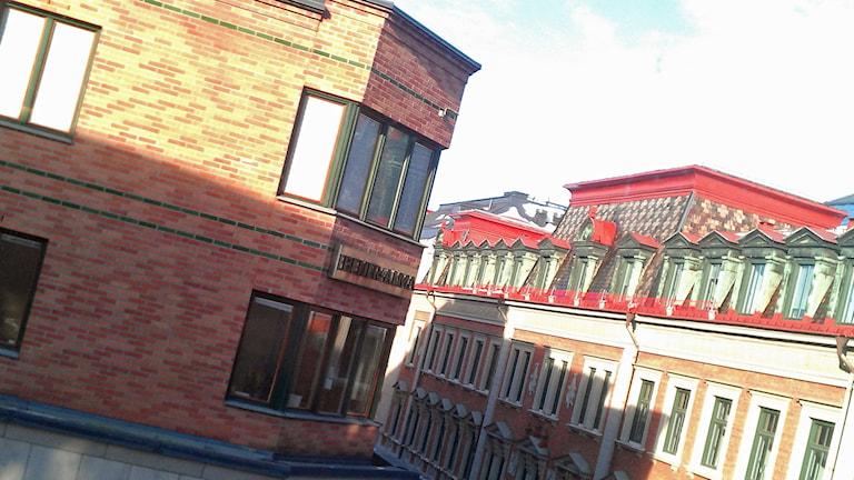 Beijer Almas högkvarter i Forum-gallerian i Uppsala. Foto: August Bergkvist/Sveriges Radio