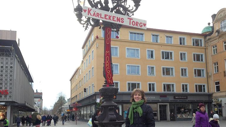 Lina Börjesson hoppas att Kärlekens torg kan återuppstå denna alla hjärtans dag