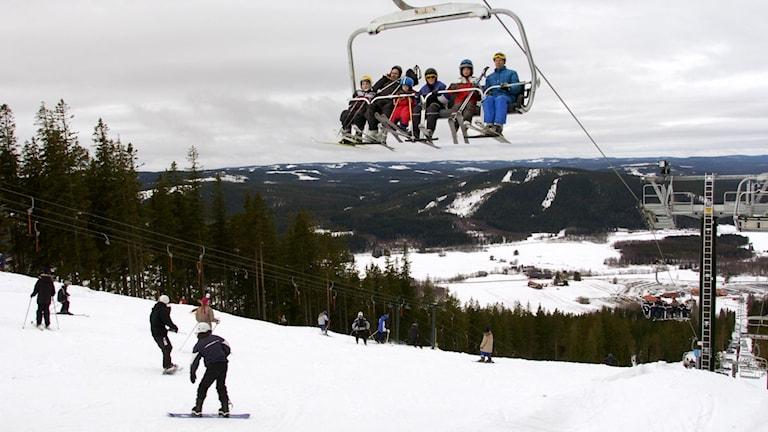 Skidanläggningen Romme alpin. Foto Lars Pehrson / Svd / TT.