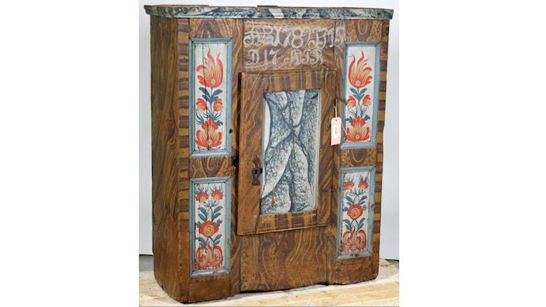 Exempel på uppländskt möbelmåleri. Foto: Upplandsmuseet