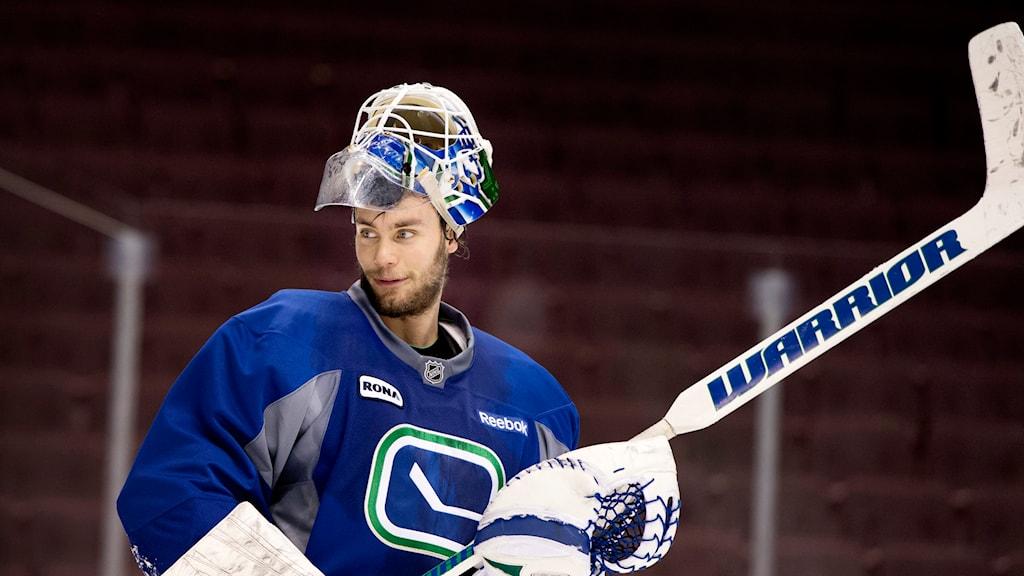 NHL-målvakten Eddie Läck. Foto: Jessica Gow/TT