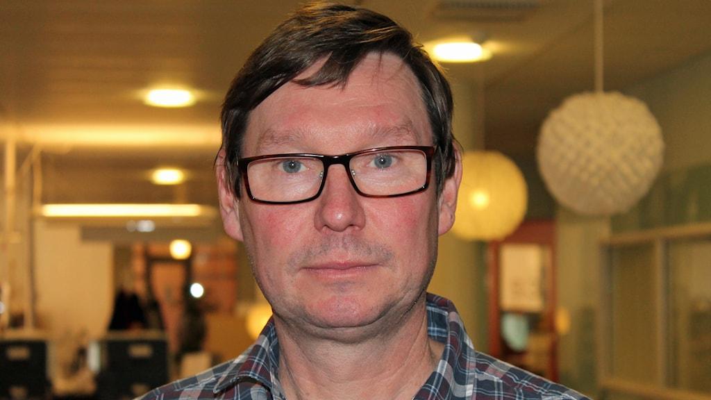 Stefan Forsman, tränare i Storvreta innebandy. Foto: Erik Thyselius/Sveriges Radio