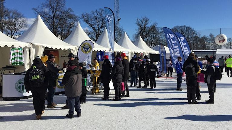 Efter många år var folkfesten tillbaka i Uppsala när bandyfinalen spelades idag
