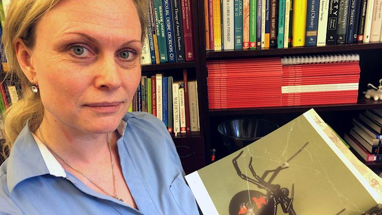 Linda Jüris, psykoterapeut på KBT-centrum i Uppsala. Foto: Stefan Hesserud Persson / SR