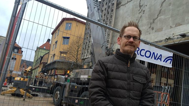 Per Lundgren, avdelningschef på kulturmiljö på Upplandsmuseet. Foto: Stefan Hesserud Persson / SR