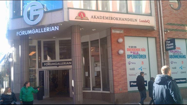Forumgallerian. Foto: August Bergkvist/Sveriges Radio