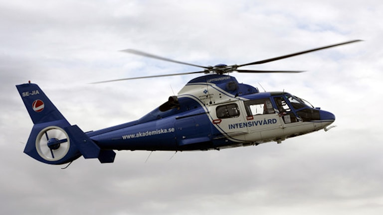Akademiska sjukhusets ambulanshelikopter (arkivbild). Foto: Staffan Claesson
