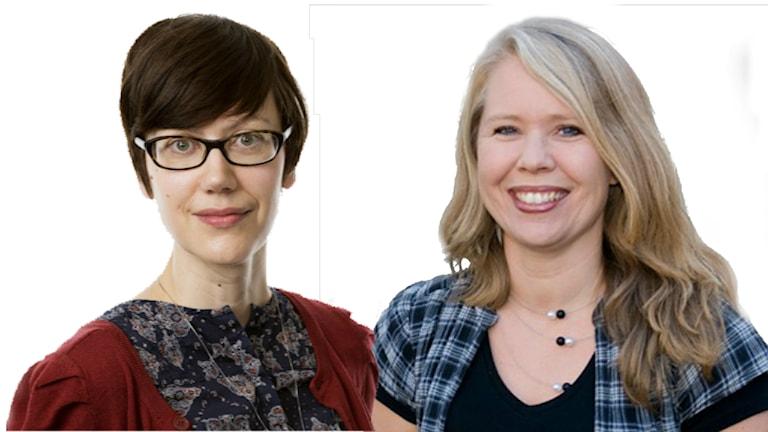 Lena Cousins och Lotta Ederth. Foto: Sveriges Radio