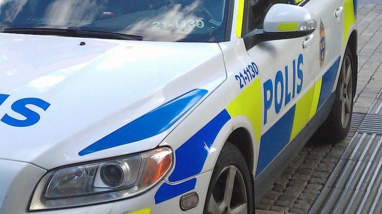 Polisbil (arkivbild). Foto: August Bergkvist/Sveriges Radio