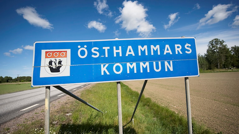 Östhammars kommun, vägskylt. Foto: Fredrik Sandberg/TT