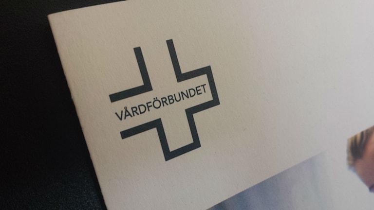 Logotype Vårdförbundet. Foto: Mattias Persson /SR