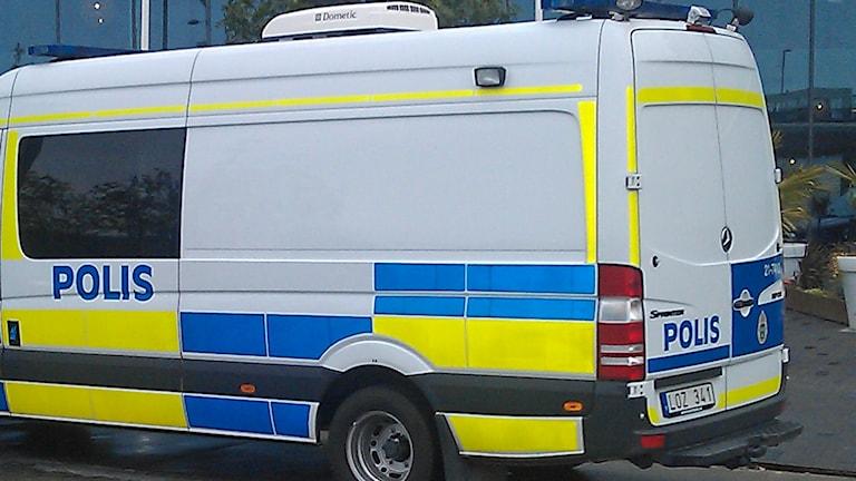 Polisbuss på uppdrag (arkivbild). Foto: August Bergkvist/Sveriges Radio
