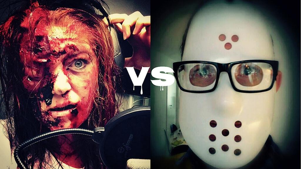 Monster-Mona eller Mördar-Christer. Vem röstar du på? Foto och montage: Sveriges Radio