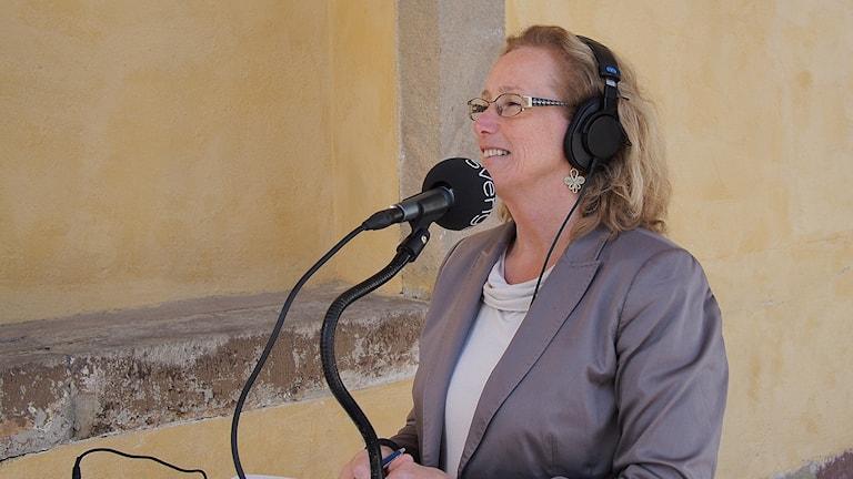 Eva Åkesson, Uppsala universitets rektor. Foto: Johanna Fellenius/Sveriges Radio