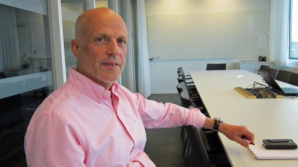 Michael Eriksson, gatu- och parkchef Uppsala. Foto: Tomas Magnusson/Sveriges Radio