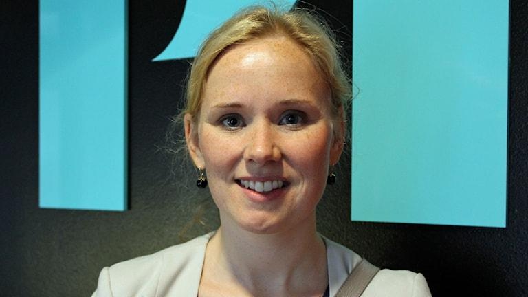 Caroline Andersson (S), i Uppsala. Foto: Jonas Ahlman/Sveriges Radio