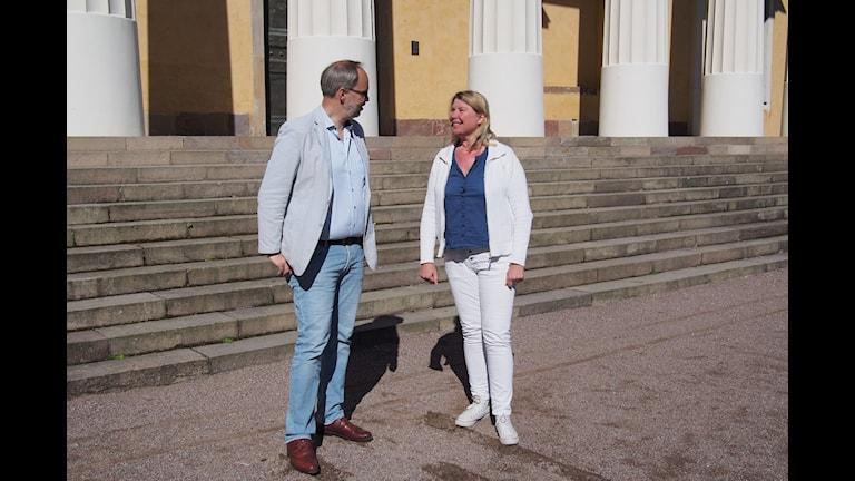 """Charlotta Friborg i """"Miller möter"""". Foto: P4 Uppland"""