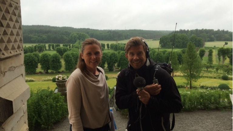 Utsikt från Venngarns slott. Foto: Nils Lundin / Sveriges Radio