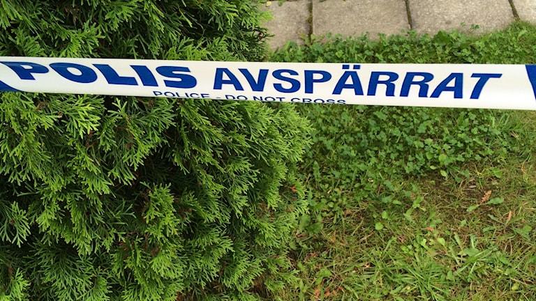 Bålstamordet, polisavspärrning Foto: Aila Stefansdotter-Franck/SR